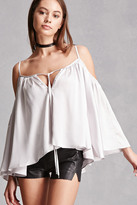 Forever 21 FOREVER 21+ Satin Open-Shoulder Top
