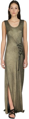 Ann Demeulemeester Lurex Rib Knit Dress