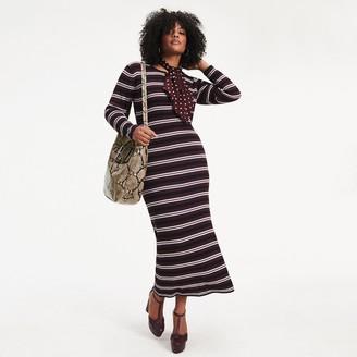 Tommy Hilfiger Zendaya Curve Metallic Knit Maxi Dress