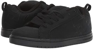 DC Court Graffik TX (Black/Black) Men's Shoes