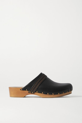 Isabel Marant Thalie Studded Leather Clogs - Black