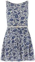 Dorothy Perkins Blue floral 50s flare dress