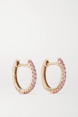 Anita Ko Huggies 18-karat Rose Gold Sapphire Earrings