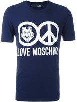 Love Moschino logo print T-shirt - men - Cotton/Spandex/Elastane - S