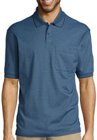 Haggar Short Sleeve Minibox Polo Shirt