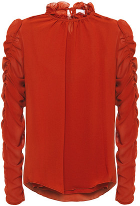 See by Chloe Ruched Crepe Blouse