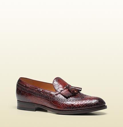 Gucci Brogue Moccasin With Tassel Detail