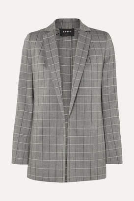 Akris Alan Checked Wool Blazer - Gray