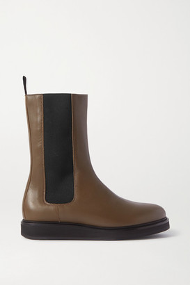 LEGRES 18 Leather Chelsea Boots - Army green