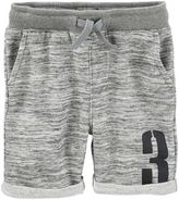 Osh Kosh Toddler Boy Space-Dyed French Terry Varsity Shorts