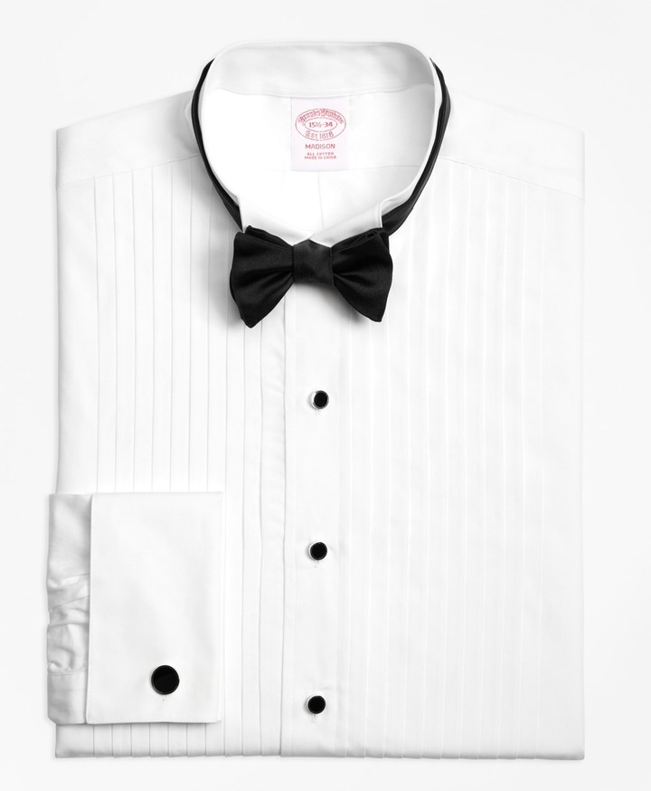 Brooks Brothers Madison Fit Ten-Pleat Wing Collar Tuxedo Shirt