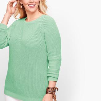Talbots Pima Cotton Shaker Stitch Sweater