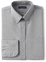 Lands' End Men's Regular Long Sleeve Buttondown Oxford Shirt-Black