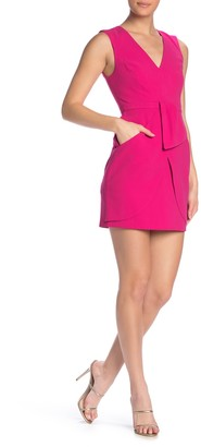 BCBGMAXAZRIA Sleeveless Gathered Short Dress