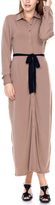 Stanzino Khaki Belted Maxi Dress