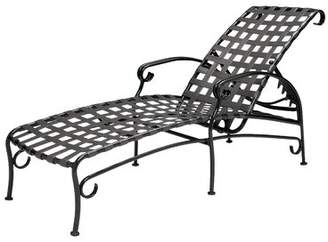"""Woodard Ramsgate Adjustable Chaise Lounge Woodard Seat Color: No Cushion, Frame Color: Pewter Finish, Seat Height: 17"""""""