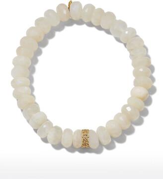 Sydney Evan Rainbow Moonstone Bracelet with Daisy Bead