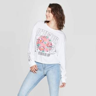 Grayson Threads Women's Iconic Long Sleeve Cropped T-Shirt Juniors') - White
