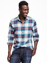 Old Navy Regular-Fit Plaid Flannel Shirt for Men