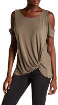 Democracy Twisted Cold Shoulder Tee
