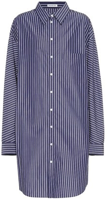 Balenciaga Oversized striped cotton shirt dress