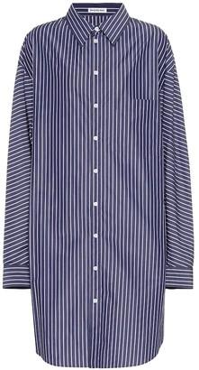 Balenciaga Oversized striped cotton shirt dress