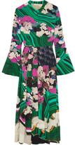 Mary Katrantzou Desmine Printed Silk Dress - Green