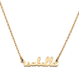Limoges Jewelry Women's Necklaces GOLD - 14k Gold-Plated Script Name Personalized Bar Necklace