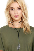 LuLu*s Feather Nest Gold and Brown Wrap Necklace