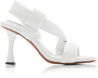 Proenza Schouler Quilted Leather Slingback Sandals