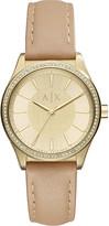 Armani Exchange AX5443 crystal-embellished gold watch
