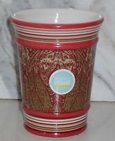 Martha Stewart Everday Everyday Persian Paisley Porcelain Bath Room Cup Tumblersale