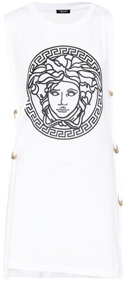 Versace Medusa-logo cotton-jersey tank top