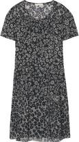 Burberry Leopard-print silk-gauze mini dress