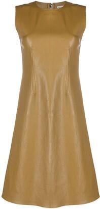 Bottega Veneta Leather Shift Dress