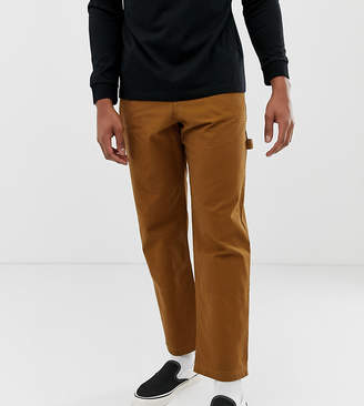 Crooked Tongues tapered carpenter trouser in tobacco-Multi
