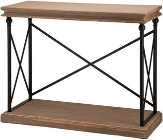 Glitzhome 42.10In French Vintage Antiqued Finish Console Table
