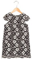 Milly Minis Girls' Short Sleeve Crochet Dress