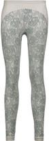 adidas by Stella McCartney Intarsia-knit stretch-jersey leggings