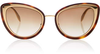 Alexander McQueen Tortoiseshell Acetate Cat-Eye Sunglasses
