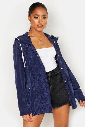 boohoo Hooded Mac