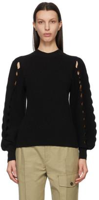 Chloé Black Scalloped Sleeve Sweater