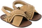 Pépé fringed slip-on sandals - kids - Leather/Suede - 19