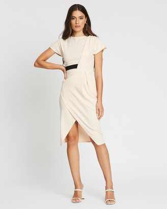 boohoo Wrap Side Detail Midi Dress