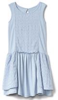 Gap Eyelet tiered tank dress
