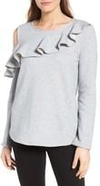 Women's Pleione Ruffled Cold Shoulder Sweatshirt