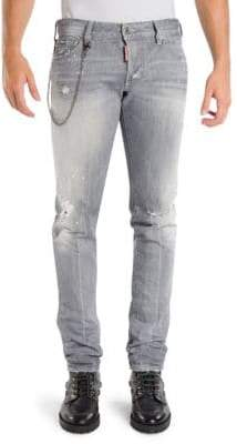 DSQUARED2 Skinny-Fit Distressed Jeans