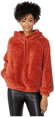 Billabong Warm Regards Sherpa Hoodie (Burnt Henna) Women's Clothing