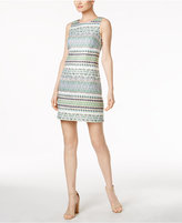 Vince Camuto Geometric Jacquard Dress