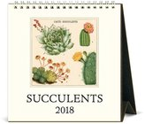 Cavallini CAL18-9 Succulents 2018 Desk Calendar